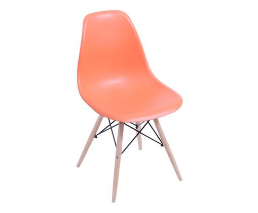 Cadeira Eames Wood - Laranja, Branco, Marrom, Colorido | WestwingNow