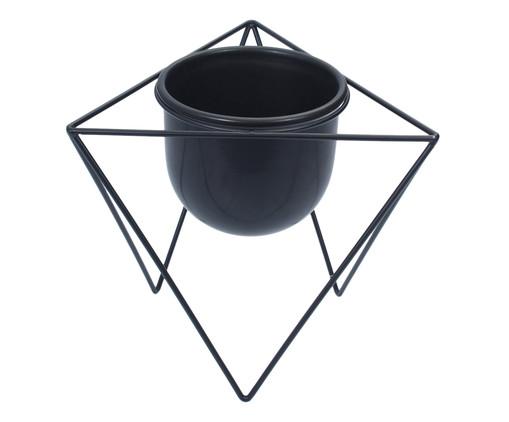 Vaso com suporte Bluma - Preto, Preto | WestwingNow