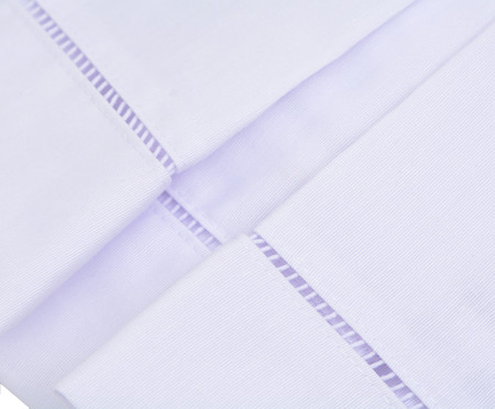 Saia para Cama Box Gorgurão Palito - Branca | WestwingNow