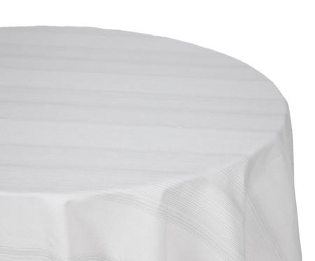 Toalha de Mesa de Algodão Redonda Soreli - Cinza | WestwingNow