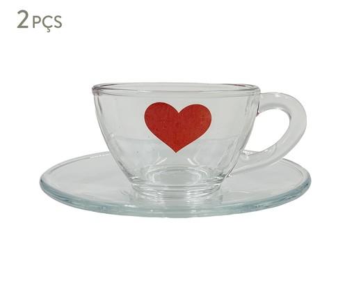 Xícara para Café em Vidro Isa - Vermelha, Transparente | WestwingNow