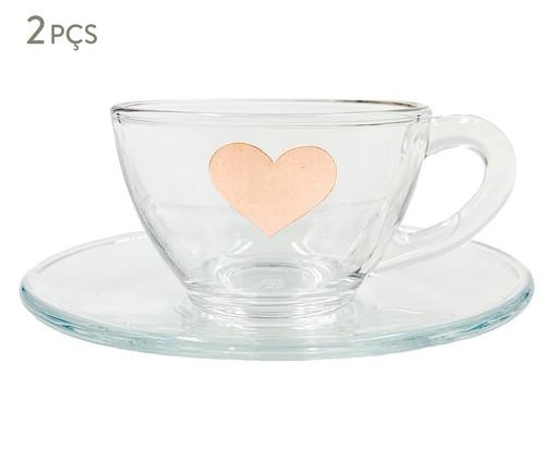 Xícara para Café em Vidro Isa - Rosé, Transparente | WestwingNow