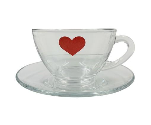 Xícara para Chá em Vidro Isa - Vermelha, Transparente | WestwingNow