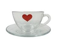 Xícara para Chá em Vidro Isa - Vermelha | WestwingNow