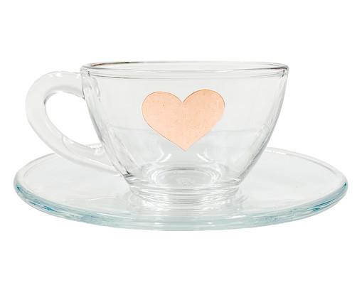 Xícara para Chá em Vidro Isa - Rosé, Transparente | WestwingNow