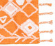 Tapete de Banheiro Artsy - Laranja, Laranja | WestwingNow