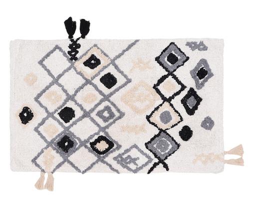 Tapete de Banheiro Art - Marfim, Preto e Branco | WestwingNow