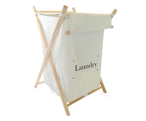 Cesto Organizador Abre e Fecha Laundry, Prata | WestwingNow