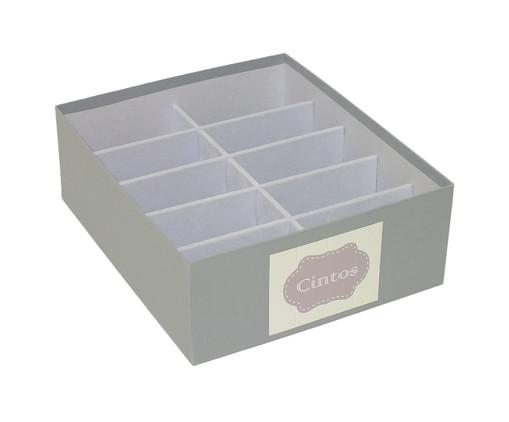 Caixa Organizadora para Cintos Tag Nola Cinza, Cinza | WestwingNow