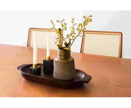 Vaso de Resina Rocema - Marrom e Dourado | WestwingNow