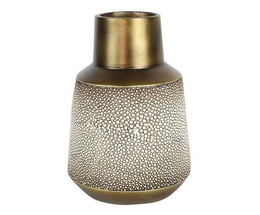 Vaso de Resina Rocema - Marrom e Dourado, Marrom, Dourado | WestwingNow