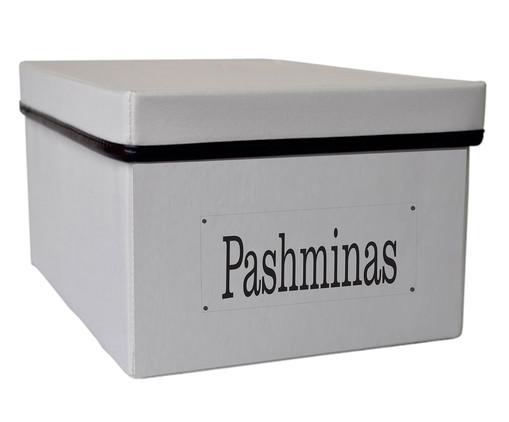Caixa Organizadora Flat Pashimas, cinza | WestwingNow