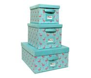 Jogo de Caixas Organizadoras Super Luxo Flamingo Ii - Tiffany | WestwingNow