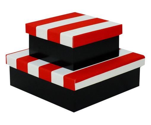 Jogo de Caixas Organizadoras Luxo Aurelia - Vermelha, Azul,vermelho | WestwingNow