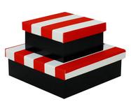 Jogo de Caixas Organizadoras Luxo Aurelia - Vermelha | WestwingNow