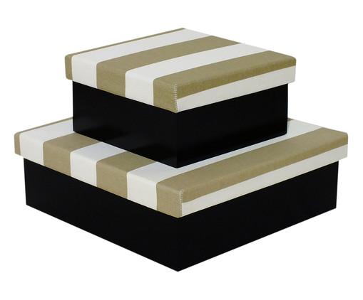 Jogo de Caixas Organizadoras Luxo Aurelia - Bege, Preto,branco | WestwingNow