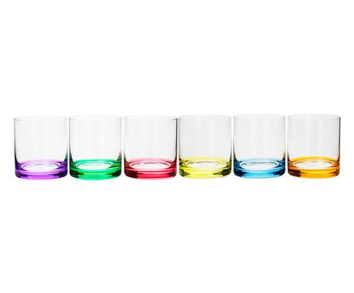 Jogo de Copos para Uísque em Cristal Shari - Colorido, Multicolorido | WestwingNow