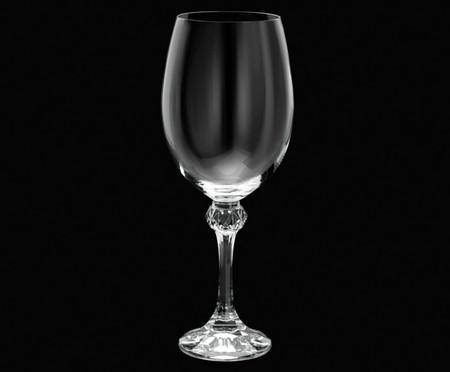 Jogo de Taças para Água em Cristal Lisa - Transparente | WestwingNow