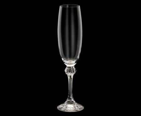 Jogo de Taças para Espumante em Cristal Remy 06 Pessoas - Transparente | WestwingNow