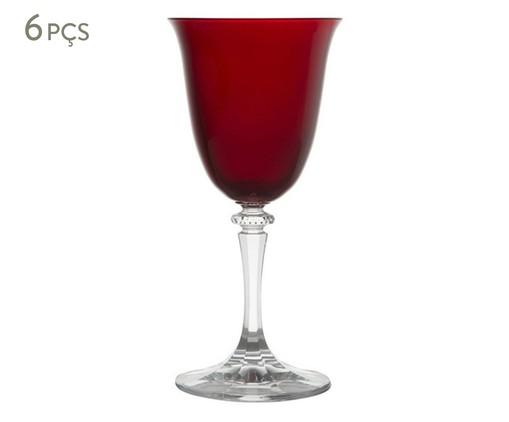 Jogo de Taças para Vinho em Cristal Dona 06 Pessoas - Vermelha, Vermelho | WestwingNow
