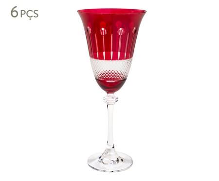 Jogo de Taças para Vinho em Cristal Alexandra Asio Rubi | WestwingNow