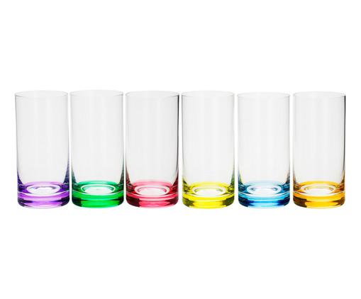 Jogo de Copos para Água em Cristal Dom - Colorido, Multicolorido | WestwingNow