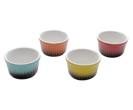 Jogo de Ramequins em Porcelana Fran Colorido - 04 Pessoas, Multicolorido | WestwingNow