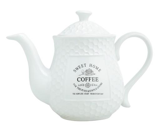 Bule para Café em Porcelana Sweet Home - Branco, Branco | WestwingNow