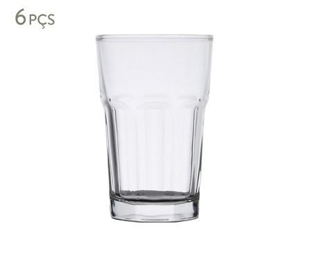 Jogo de Copos para Água em Vidro Rose - Transparente | WestwingNow