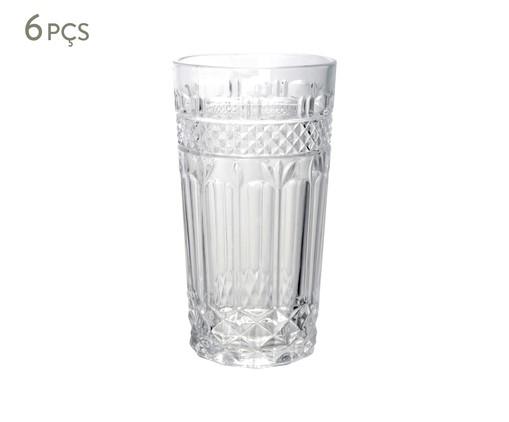 Jogo de Copos para Água em Vidro Lise - Transparente, Transparente | WestwingNow