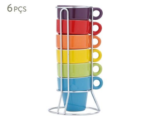 Jogo de Xícaras para Café em Porcelana Joy - Colorido, Multicolorido | WestwingNow