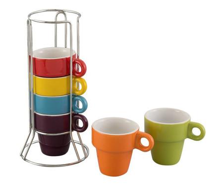 Jogo de Xícaras para Café em Porcelana Joy - Colorido   WestwingNow