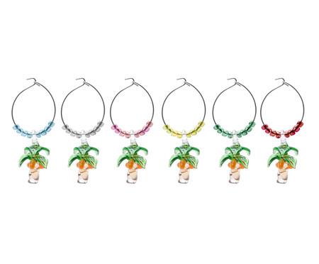 Jogo de Marcadores de Taças Palmeira - Colorido | WestwingNow