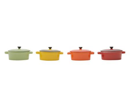 Jogo de Mini-Caçarolas em Porcelana Colors | WestwingNow