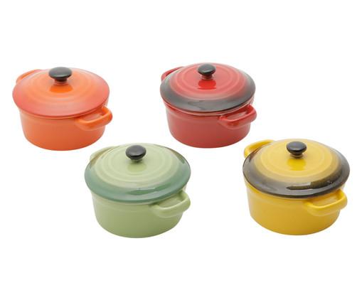 Jogo de Caçarolas em Porcelana Colors, Multicolorido | WestwingNow