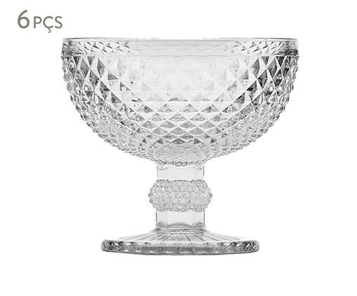 Jogo de Taças para Sobremesa em Vidro Mia - Transparente, Transparente | WestwingNow