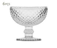 Jogo de Taças para Sobremesa em Vidro Mia - Transparente | WestwingNow