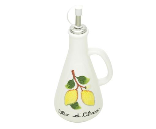 Azeiteiro em Cerâmica Lemons 310 ml - Branco, Branco | WestwingNow