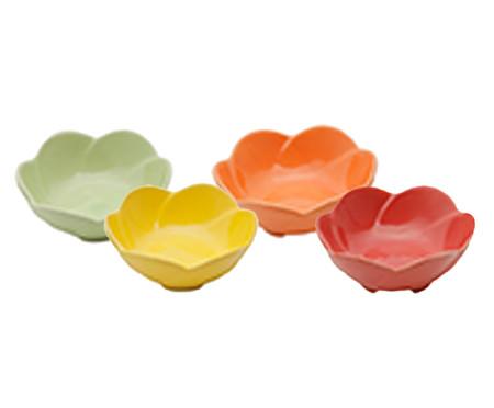 Jogo de Petisqueiras em Porcelana Flowers - Colorido | WestwingNow