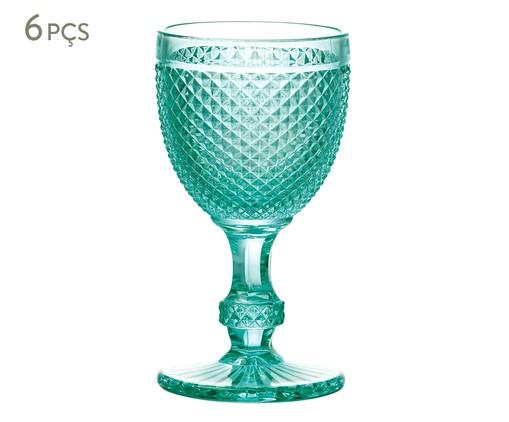 Jogo de Taças para Água em Vidro Ayla - Azul, Azul | WestwingNow