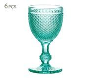 Jogo de Taças para Água em Vidro Ayla - Azul | WestwingNow