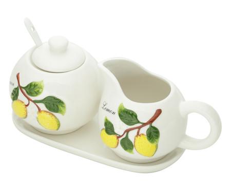 Jogo de Leiteira e Açucareiro Lemons - Branco   WestwingNow