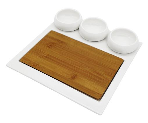 Jogo de Petisqueiras em Porcelana Debor - Branco, Marrom | WestwingNow
