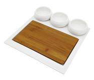 Jogo de Petisqueiras em Porcelana Debor - Branco | WestwingNow