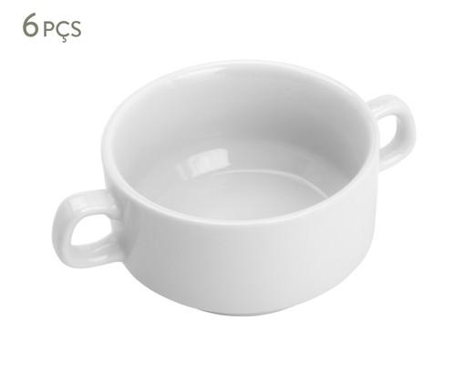 Jogo de Bowls em Porcelana Maria 06 Pessoas - Branco, Branco | WestwingNow
