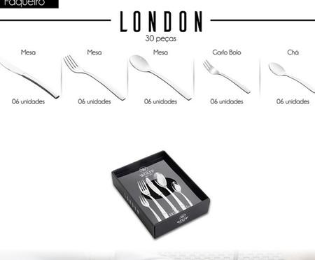 Faqueiro em Inox London - 06 Pessoas | WestwingNow