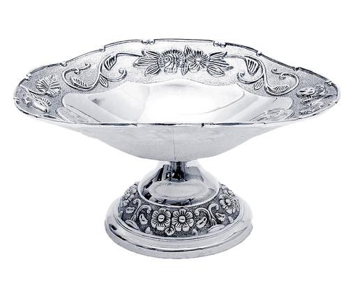 Fruteira de Metal Sofistic Manea Silver - Prateada, Transparente | WestwingNow
