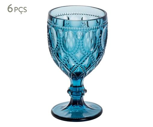 Jogo de Taças para Água em Vidro Mena - Azul, Azul | WestwingNow