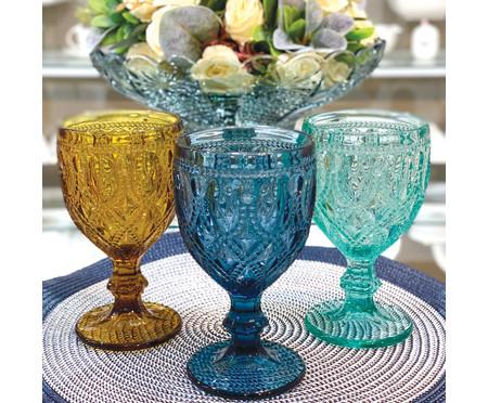 Jogo de Taças para Água em Vidro Mena - Azul | WestwingNow