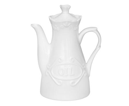 Jogo de Azeiteiro e Vinagreiro em Porcelana Belle - Branco | WestwingNow
